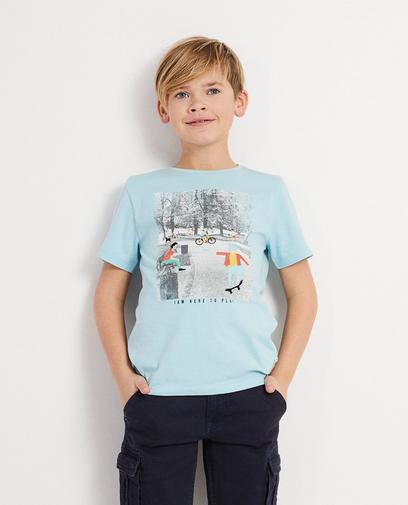T-Shirt mit Print und Aufschrift